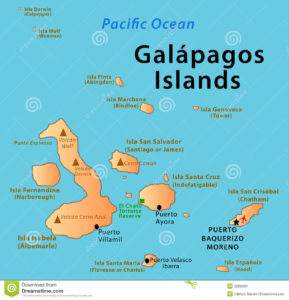 galapagos-islands-map-illustration-featuring-volcanos-el-chato-tortoise-reserve-main-cities-32985667
